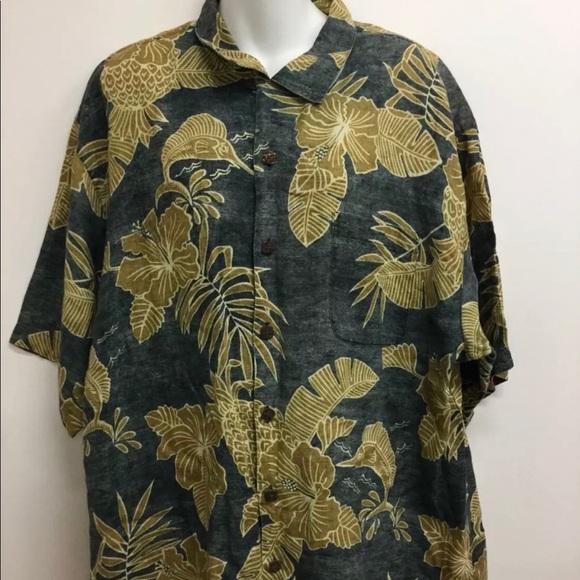 548a030e Tommy Bahama Shirts | Linen Hawaiian Aloha Shirt Mens Xl | Poshmark
